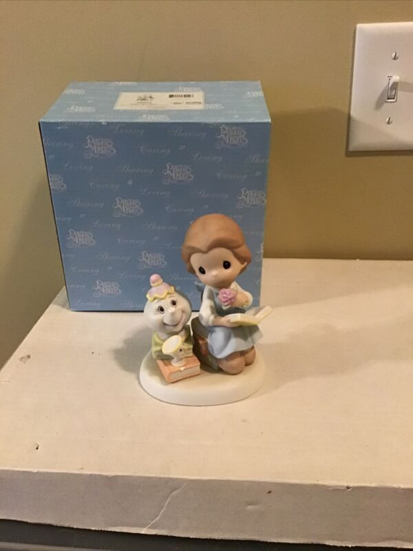 """Disney Precious Moments """"Follow Your Heart"""" Belle Beauty and The Beast 640042"""