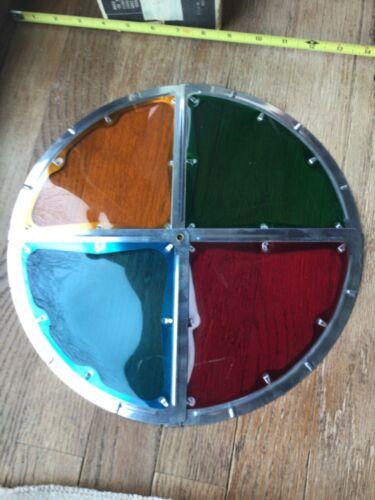 Vintage Aluminum Christmas Tree Folding Color Wheel Panel