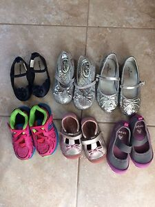 Little girls lot of summer shoes size 6,7,8, 10 and 11 toddler