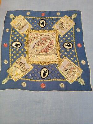 Vintage Scarf Styles -1920s to 1960s Vintage French Silk Scarf -Large $22.00 AT vintagedancer.com
