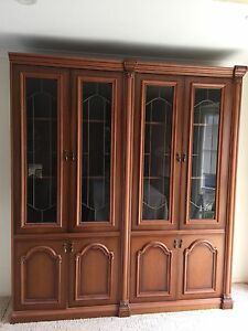 Wall unit - sold timber with beautiful glass doors Rowville Knox Area Preview