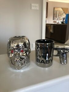 (2) Terminator movie theme mugs mint condition