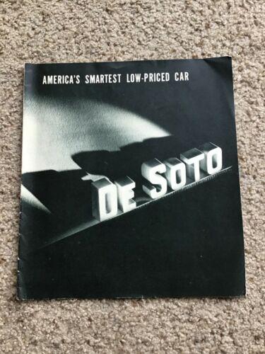1938 DeSoto  original dealership sales literature.