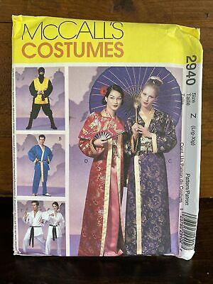 McCalls 2940 Adult Ninja Martial Arts Geisha Costume Pattern Size L XL Halloween