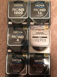 Hoya ProND filters and Circular Polarizers 49mm & 52mm