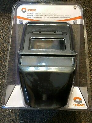 Hobart 770257 Welding Helmet With 2x 4 14-inch No.10 Shade Flip Lens New