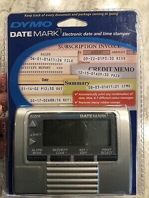 Dymo Datemark Stamp 47002 Electronic Date And Time Stamper New Never Opened