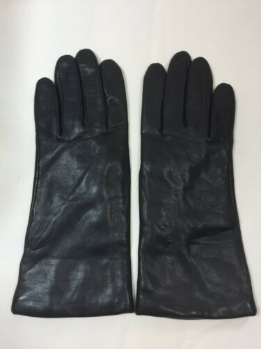 NWOT Fownes Brothers Black Cashmere Lined Leather Gloves Size 8