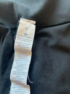 """Lululemon Black Wunder Under High Rise  Leggings 25""""  Size UK12 (US8) Yoga Pants"""