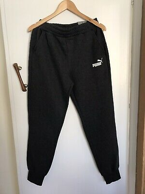 Puma Reg Fit Medium Fleece Pants Dark Grey New With Tags