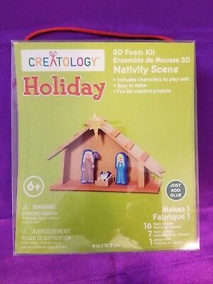 "Creatology Holiday 3D Foam  ""Nativity Scene""    24 Pieces"