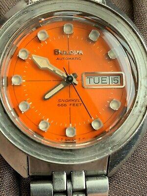 "Rare 1971 Bulova Oceanographer V Snorkel 666ft. Automatic ""Devil Diver"""