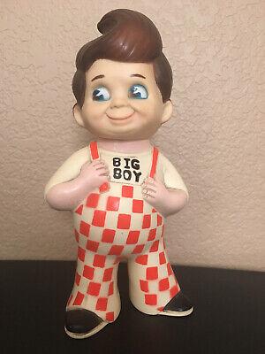 "Vintage 1973 Bob's Big Boy Restaurant Chain 9/"" Vinyl Bank Figure NICE!"