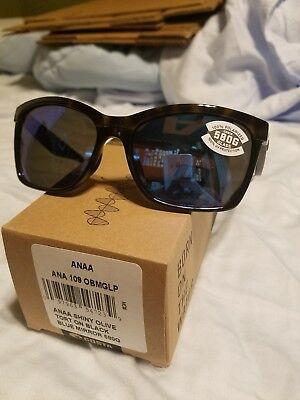 Costa Del mar Anaa sunglasses shiny Olive tortoise black/blue mirror 580g (Costa Anna Sunglasses)