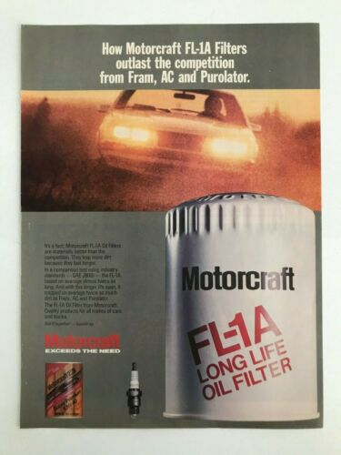 Motorcraft FL-1A Long Life Oil Filter Vintage 1980