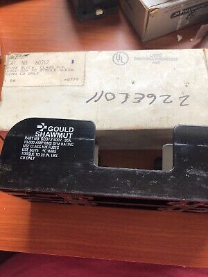 Gould Shawmut 60312 Fuse Block Holder 30A 600V  (t24.20) 30a Fuse Block Holder
