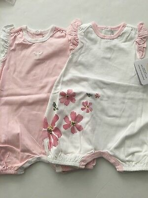 Burts Bees Baby Girl Organic Bubbler Romper Rompers Size 3 6 9 Months Pink flora