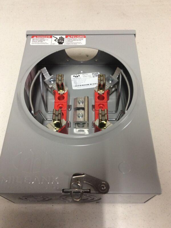 NEW Out Of Box Milbank U7487-RL-KK-BL Ringless Meter Socket 125-Amp