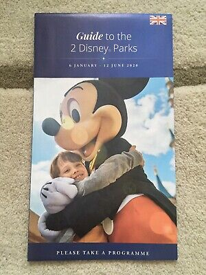 Disneyland Paris Guide Map To The 2 Disney Parks English Current