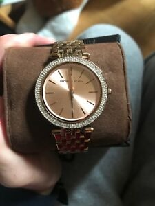 LADIES MICHEAL KORS rose gold WATCH