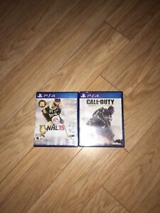 Ps4 games Cod aw and NHL 15