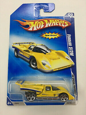 RARE VHTF ~ Ferrari 512M Yellow Variant 2009 Hot Wheels HW Special Features