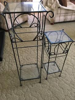 Attractive Metal and Glass Display stands