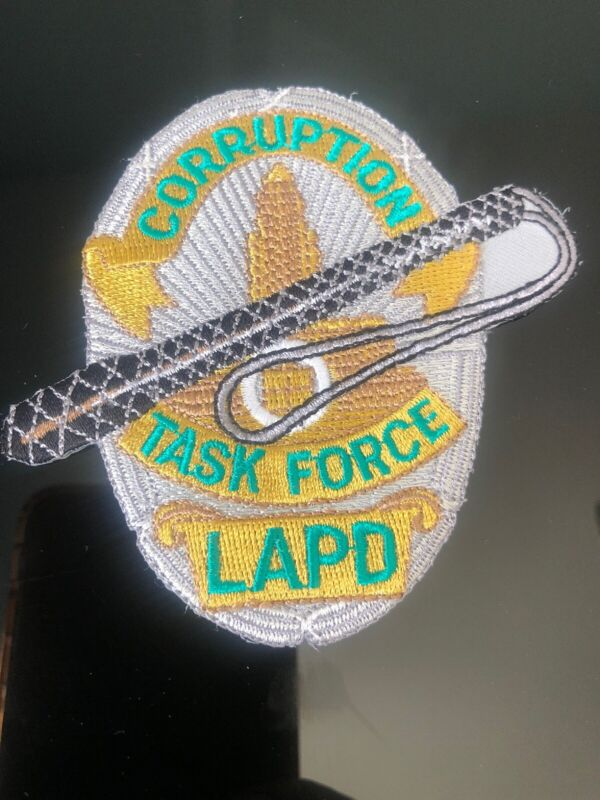 Corruption Task Force Shoulder Patch Los Angeles Collectors New Unused