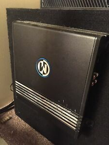 12 inch Memphis Audio Sub and Amp