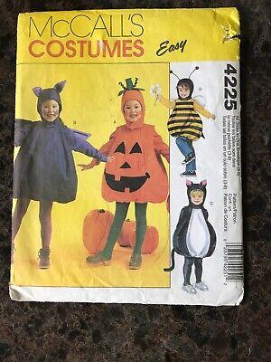Easy Guy Costumes (MCCALLS 4225 Childs Pot Belly Easy Costumes Bee Pumpkin Bat Cat)