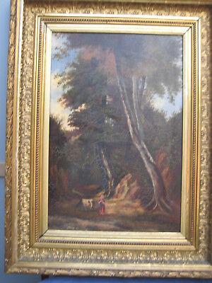 Peinture à l'huile école de Barbizon 19ème signé S.Pie...