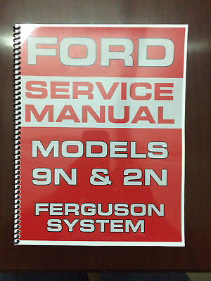 Electric Service Manual - Ford 9N 2N Tractor Service Manual Ferguson System Engine Electrical Transmission