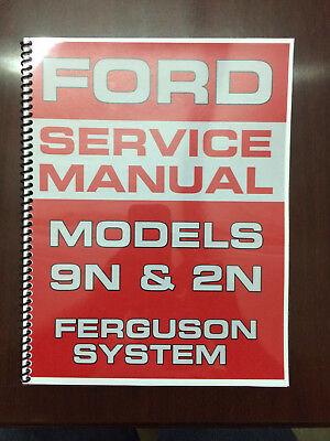 Ford 9n 2n Tractor Service Manual Ferguson System Engine Electrical Transmission