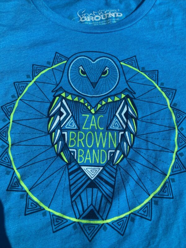 ZAC BROWN BAND TOUR Sz Medium T-SHIRT 2017 Welcome Home Tour