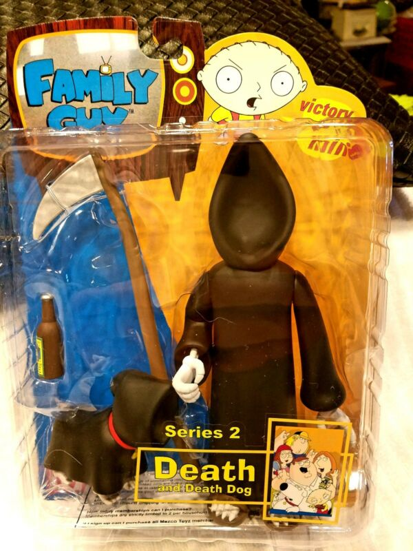 SERIES 2 MEZCO FAMILY GUY  DEATH AND DEATH DOG ACTION FIGURE MINT