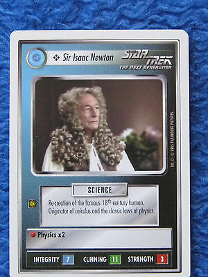 Trading Card Star Trek Next Generation Sir Isaac Newton