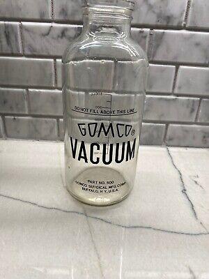 Vintage Gomco Part No 500 Vacuum Aspiration Collection Bottle 600 C.c. 32 Oz Usa