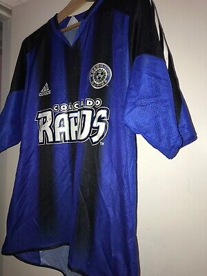 COLORADO RAPIDS Adidas 2005 MLS FC Soccer Futbol Jersey Harris Team Autograph image