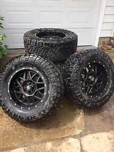 Nitto ridge grapplers and xd rims 18""
