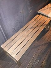 2 wooden bench seats Surry Hills Inner Sydney Preview