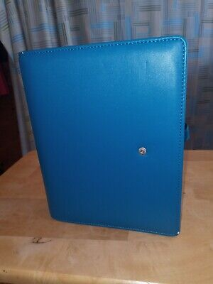 Franklin Covey Lily Faux Leather Binder Classic 1.25 Rings Sapphire