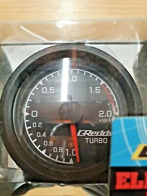 Greddy 52mm Boost Gauge - Brand New In Box (White Face )