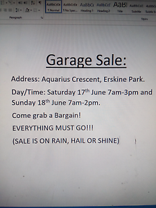 GARAGE SALE TOMORROW!!!! Erskine Park Penrith Area Preview