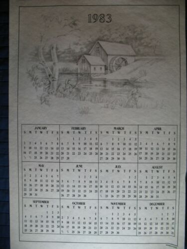 * TRI CHEM 8008 BARN CALENDER 1983  Picture to paint TRICHEM