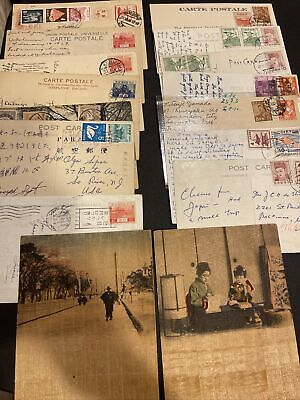 Japan Stamp Postcards + Papers (x16)