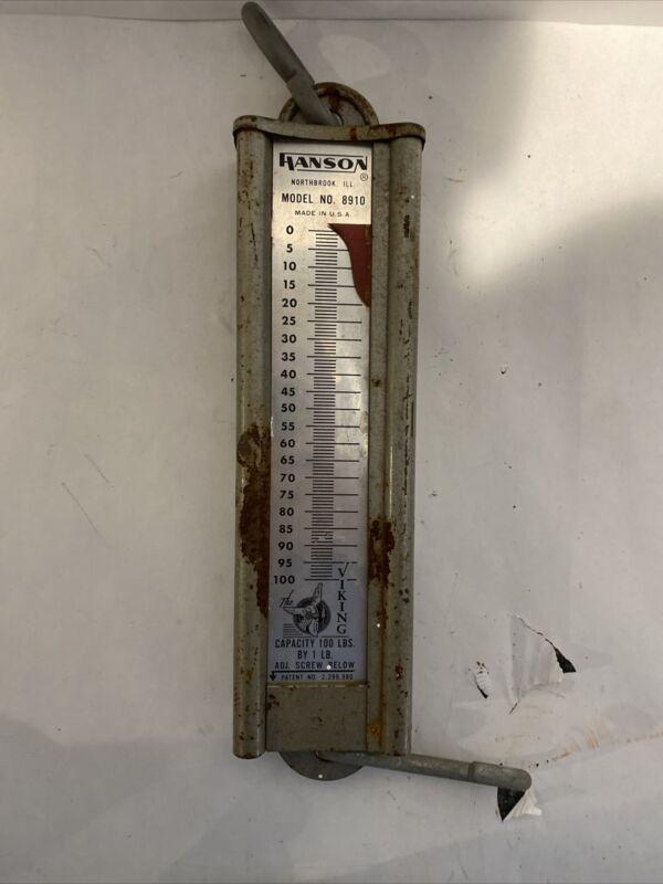 Hanson Model 8910 100lb Hanging Scale - Needs Refurbishment