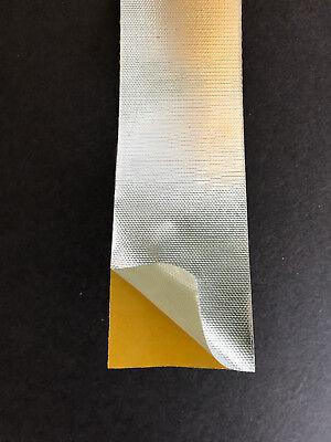 Hitzeschutz Tape / Klebeband / Band - selbstklebend - alubeschichtet -1,4m -800°