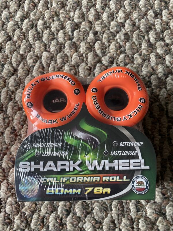 Nickey Guerrero Shark Wheels Longboard Skateboard Sidewinder 60mm 78a Rare