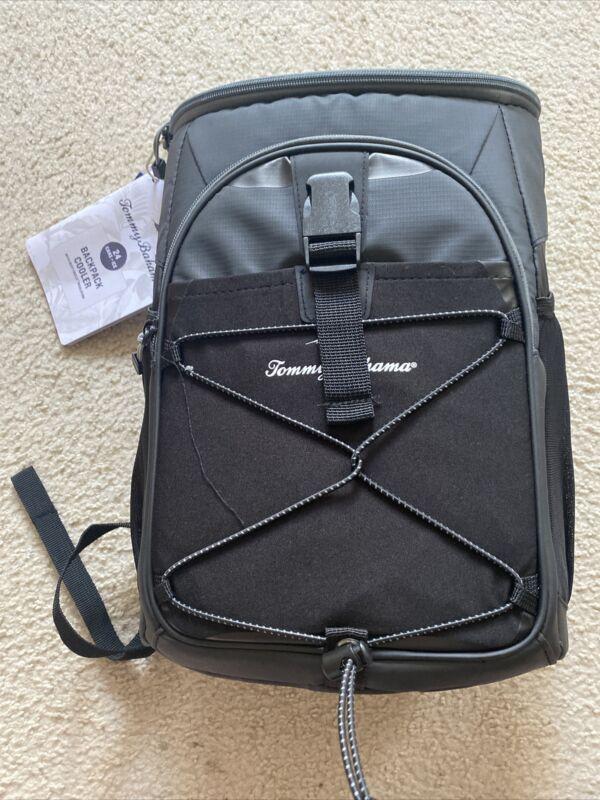 NEw~ Black Tommy Bahama Backpack Cooler Sport Tote Bag -24 cans Or Wine Bottles!