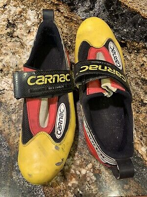 New in box NOS Carnac TRS6 road triathlon cycling shoes yellow black Size 42.5